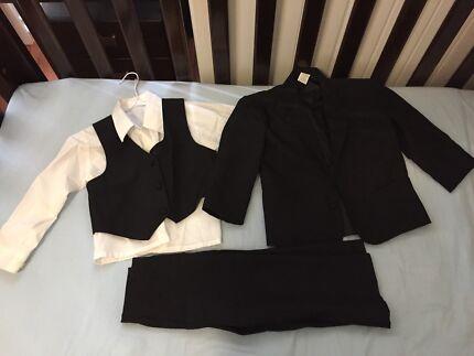Kids black formal suit set size 4