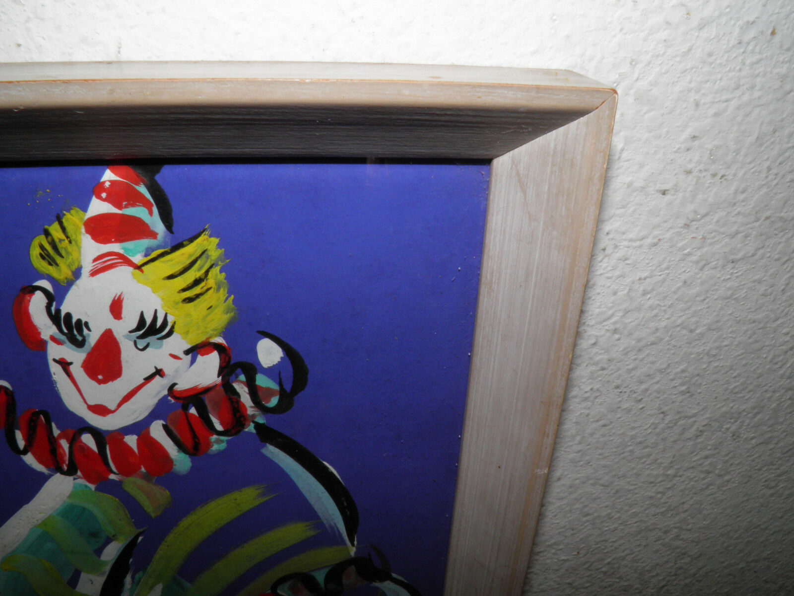 SHIRLEY CLEMENT AMERICAN 1922-2002 ORIGINAL CLOWN PAINTING INITIAL SC 9.5x12.5  - $378.84