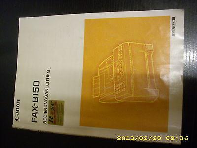 Bedienungsanleitung für Canon Fax B 150