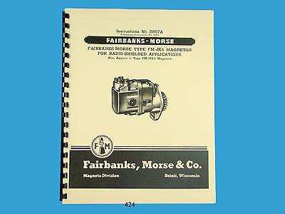 Fairbanks Morse Magneto Instruct Parts Manual For Fm-je4 Fm-jfe2 Mags 424