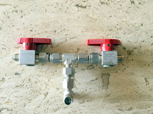 "Swagelok SS-4P4T-RD Quarter Turn Instrument Plug Valves,1/4"" Swaglok fittings"