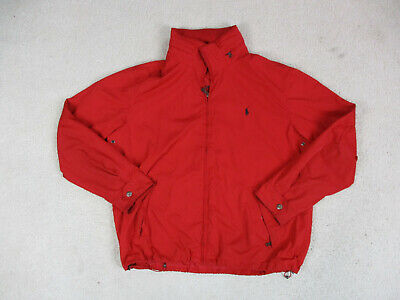 VINTAGE Ralph Lauren Polo Jacket Adult Extra Large Red Blue Pony Coat Mens 90s *