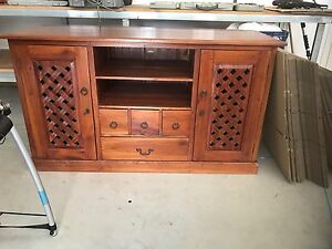 Timber TV Entertainment Unit Scarborough Redcliffe Area Preview