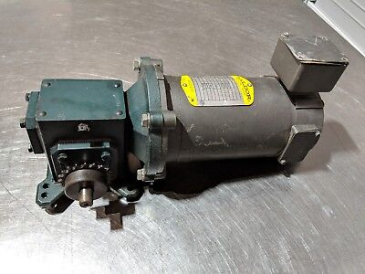 Baldor Cdp3310 14 Hp 90v Dc Motor W Norwalt Design 501 Gear Reducer 35 Rpm
