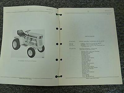 International Harvester Ih Model 106 Cub Cadet Tractor Parts Catalog Manual Book