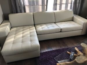 Leather Sofa and Chaise - BRAND NEW