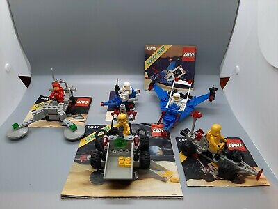 Lego Space vintage lot of small sets 100% complets - 6841, 6845, 6847,...