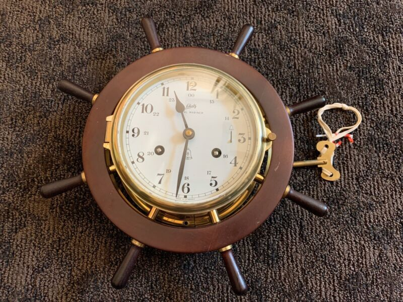 Vintage Schatz Royal Marine Wind Up With The Key Ship Clock