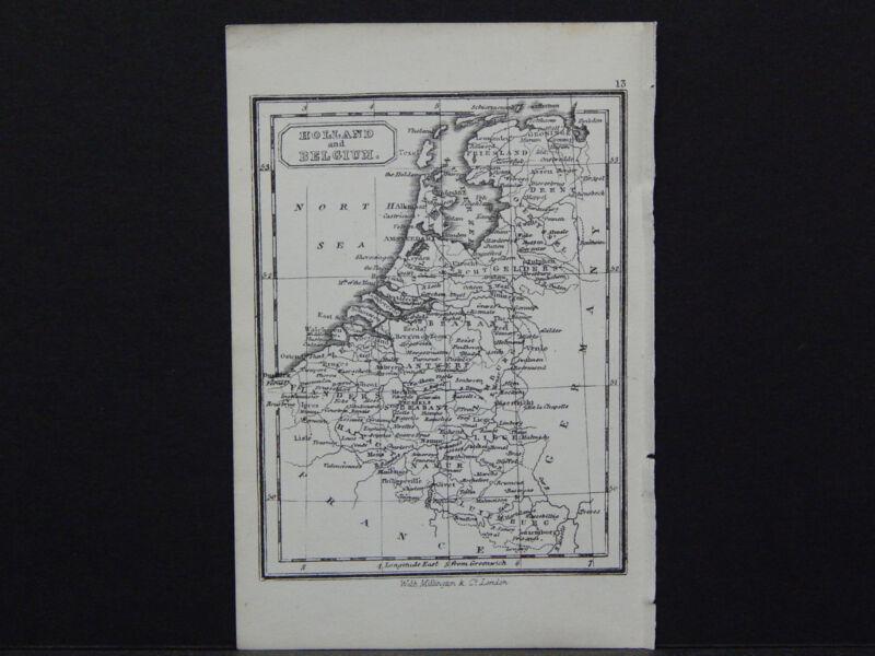 Miniature Map, c. 1850 #23 Holland and Belgium