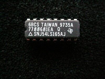 Snj54ls165aj 8bit Shift Register 16 Pin Ceramic Dip New Nos Sn 54 Ls 165 Genuine