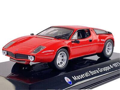 Maserati Bora 1973 Diecast 1/43 scale made by Panini MINT in Plexiglass Case