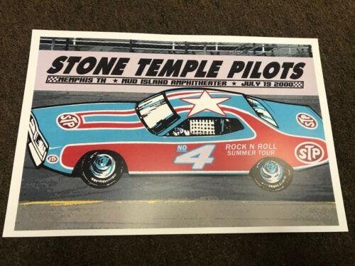 Stone Temple Pilots No. 4 2000 Tour Memphis Scott Weiland Concert Poster 12x18