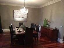 BEAUTIFUL LARGE SOLID TIMBER DINING TABLE WITH 8 chairs + SIDEBOARD Aspendale Kingston Area Preview