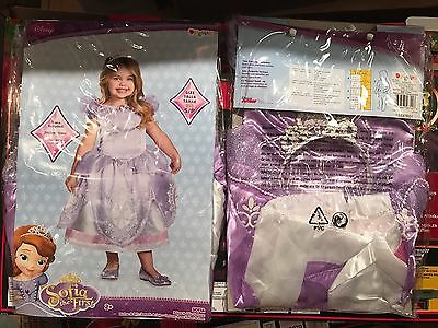 SOFIA the First Deluxe Costume Dress + Tiara Toddler Age 2+ by Disguise 2T (Sofia The First Toddler Dress)