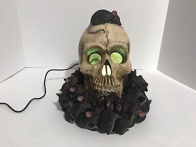 Retired Spirit Halloween Rat's Feast Skull Mister Working Light And Fog
