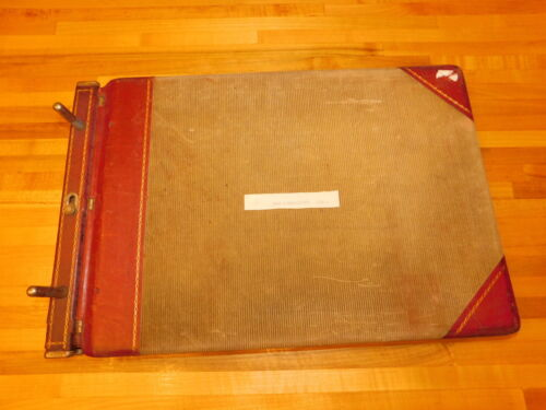 Vintage 1956-1957 CASH DISBURSEMENTS Ledger ULSTER COUNTY NY VERY LARGE & HEAVY