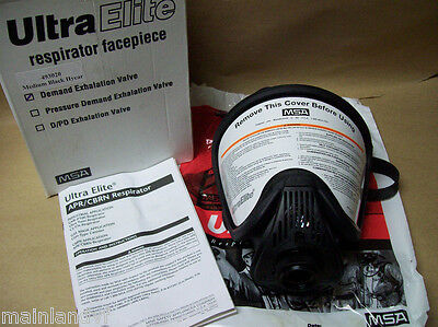 Msa Ultra Elite Respirator Facepiece Hycar Full Face 493020 Medium New 455wh