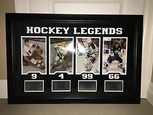 Hockey Legends framed wall picture (3'x2') - Brand New