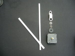 High Torque Clock Movement Extra Long Spindle 250mm White