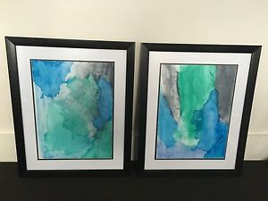 2 x Water colour paintings in frames Caringbah Sutherland Area Preview