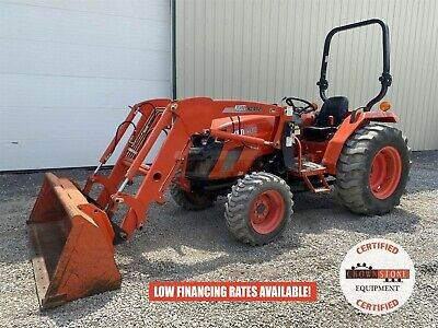 2016 Kioti Ds4110 Tractor W Loader 2 Post Rops 4x4 540 Pto 41 Hp 361 Hours