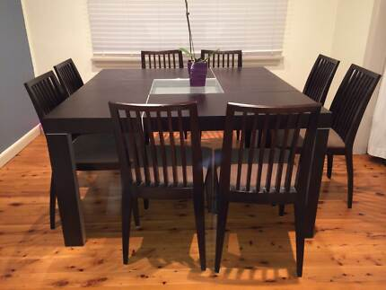 modern dining table and 8 chairs 600 00 lovely modern dining table 8