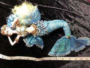 Rare Mermaid Porcelain Collectible Doll