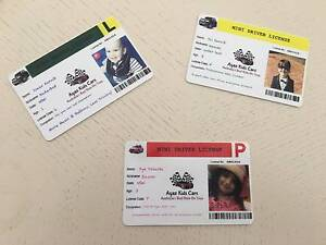 Kids Mini Driver Licence - Accessory to ride on cars Moorebank Liverpool Area Preview