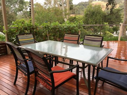 Garden Setting Table \u0026 8 Chairs & Garden Table setting | Outdoor Dining Furniture | Gumtree Australia ...