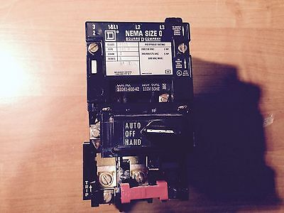 Square D 8536sbg2 Motor Starternema Size 0120 Volt Coilhoa Switchheaters