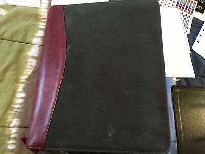 Vintage - Franklin Planner - Leather Suede 7 Ring Binder More - Pre-owned