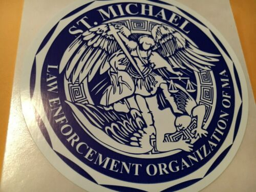 St. Michael Law Enforcement Organization of Massachusetts Police decal