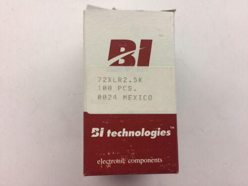(54 PIECE LOT) 72XLR2.5K Res Cermet Trimmer 2.5K Ohm 10% 0.5W 1(Elec)/1(Mech)