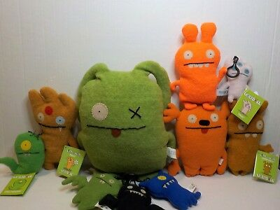 Uglydoll plush lot of 11 dolls sizes from 11