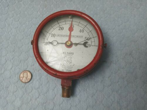 American Radiator Company Pressure Gauge 1910 Red Steampunk