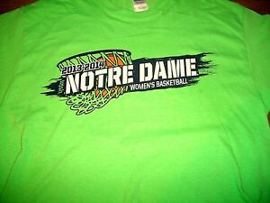 Notre Dame Women's Basketball 2013-14 Roster (Next Nat'l Champs) T-Shirt YLg New