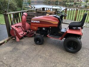 roper garden tractor and snow blower