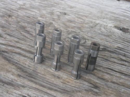 """Procunier tap collets 7 pc. lot #6 - 7/16"""" , 1/2"""" D. X 1-1/2"""" long"""