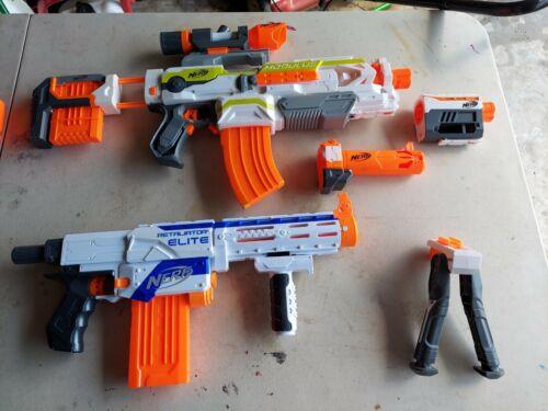 NERF N-strike B1538 Modulus ECS-10 W/ Sniper Attachments And Retaliator - $42.00