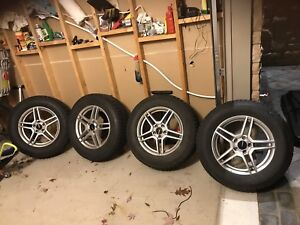 """17"""" rims and winter tires"""