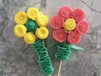 Candy daisies, candy caterpillars @ cre8tivecandy.ca