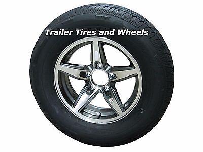 Rainier ST175/80R13 LRC Radial Trailer Tire & Aluminum Wheel Bobcat Gunmetal