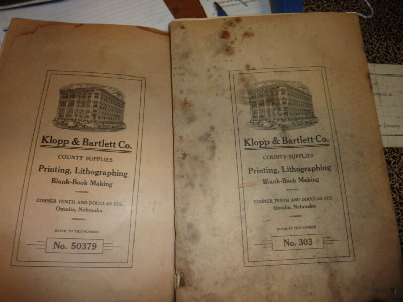 THREE early 20th century POLITICAL voting POLLING book registers Nebraska & VA