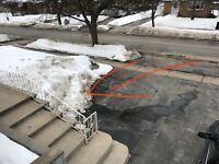 Remove snow bank from driveway