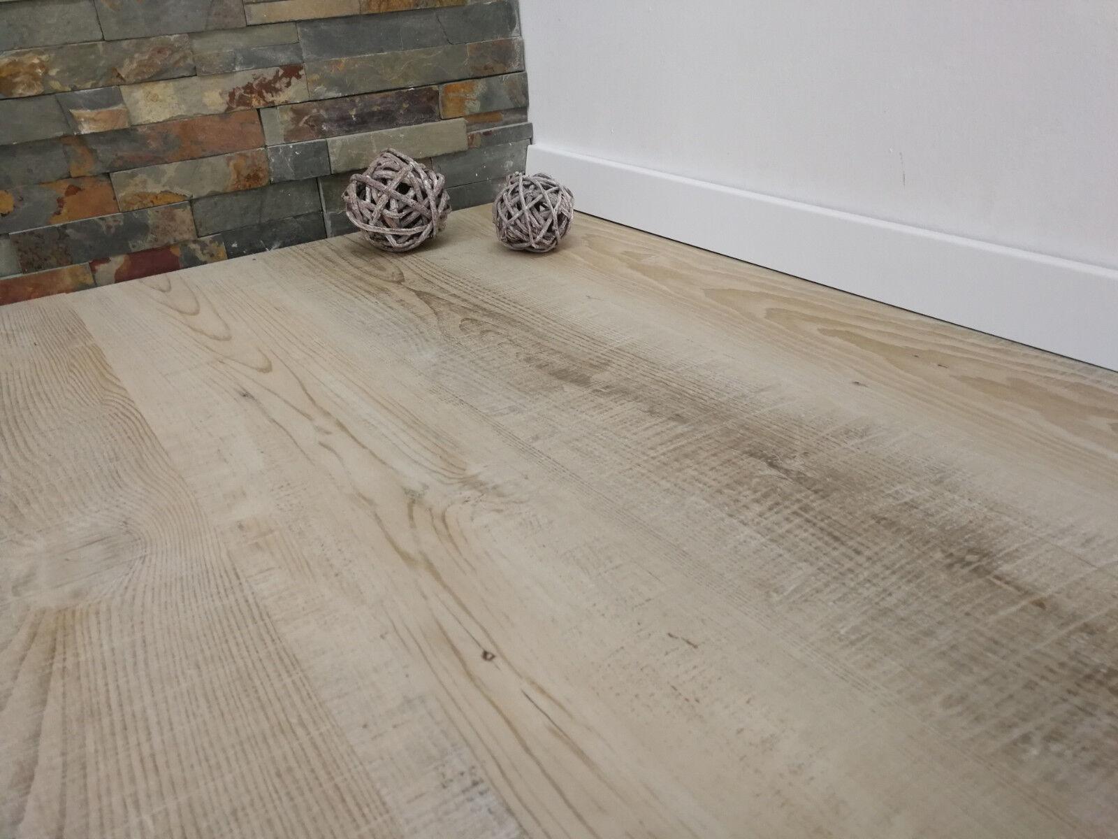 click vinylboden safran eiche hell hdf-träger mit kork dämmung für