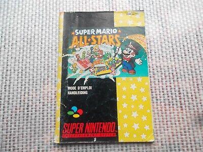 Notice Super nintendo / Snes manuel Mario all stars  PAL original Booklet *