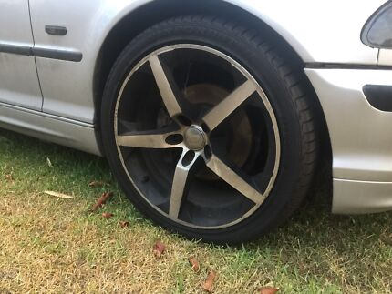 """BMW / commodore 18"""" wheels - new tyres Morisset Lake Macquarie Area Preview"""