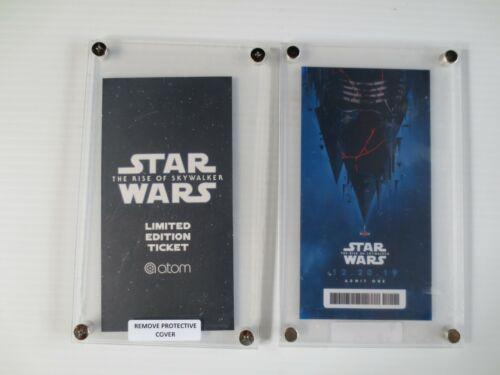 Star Wars Rise of Skywalker Movie Ticket Limited Edition Atom