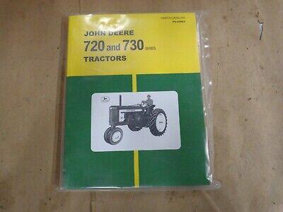 John Deere 720 730 Gas Engine Tractor Parts Manual Catalog Jd 530cc