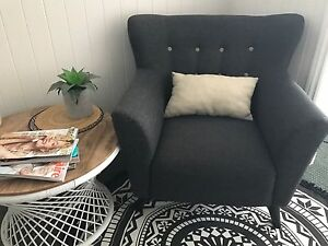 Country Fabric Accent Chair Super Amart Armchair Thagoona Ipswich City Preview